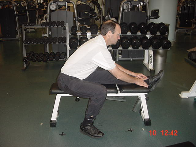 golf exercise - hamstring stretch